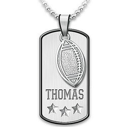 Grandson's Personalized Sports Star Dog Tag