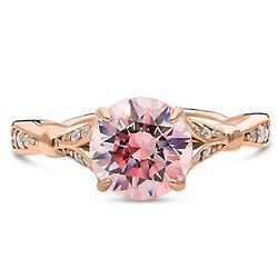 8mm Swarovski Solitaire Rose Gold Plated Engagement Ring