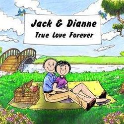 Lovers in the Park Friendly Folks Personalized Cartoon