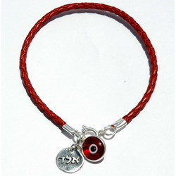 Red Leather Kabbalah Protection Bracelet