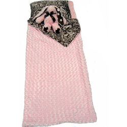 Pink and Brown Paisley Designer Sleeping Bag