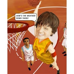 Shoot a Basket Caricature Print from Photos