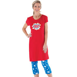 Super Mom Gown & Leggings Pajamas