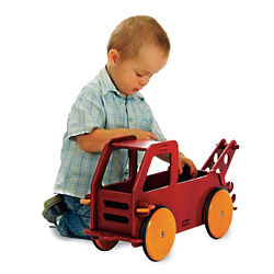 Wood Tow Truck Toy