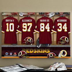 Personalized Washington Redskins Locker Room Canvas Print