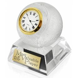 MVP Crystal Tennis Clock Award