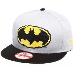 Batman Hero Bit Light Grey Snapback Hat