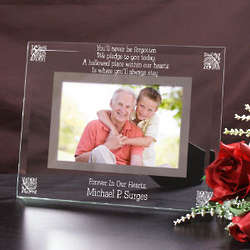 Forever in Our Hearts Memorial Glass Picture Frame