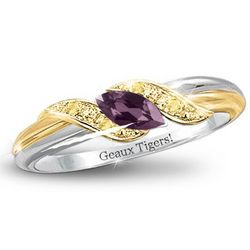 Pride of LSU Tigers Amethyst Embrace Ring
