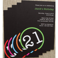 Perfectly Aged Personalized Birthday Party Invitations