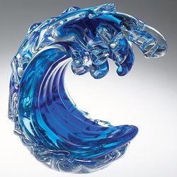 Ocean's Wave Glass Sculpture