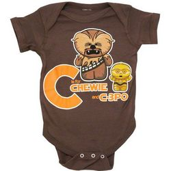C is for Chewie and C-3PO Baby Snapsuit