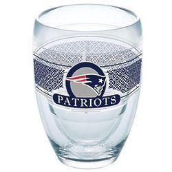 2 New England Patriots 9 Oz. Tervis Stemless Wine Glasses