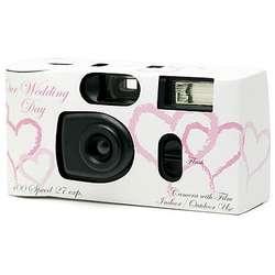 Pink Heart Wedding Camera