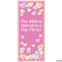 Personalized Conversation Hearts Door Cover