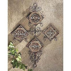 Faith, Hope, Love, Peace Cross