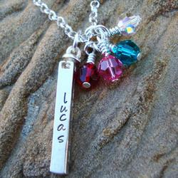 Personalized Family Swivel Bar Pendant Necklace