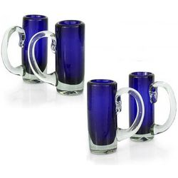 Deep Sea Blown Glass Shot Glasses