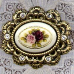 Sweet Rosette Floral Brooch