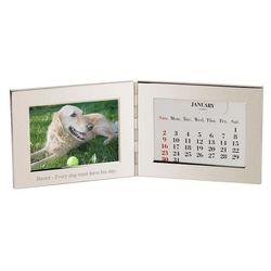 Desktop Silver Frame and Perpetual Calendar