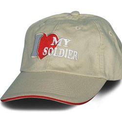 Women's I Love My Soldier Embroidered Ballcap