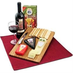 Red Wine and Cheese Cutting Board Gift Set