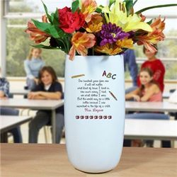 Personalized Teacher Vase