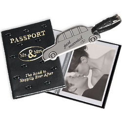 Mr & Mrs Passport Photo Album & Luggage Tag Set