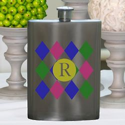 Personalized Diamonds Flask