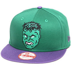 Hulk Hero Bit Green and Purple Snapback Hat