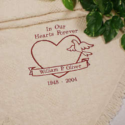 Embroidered In Our Hearts Memorial Afghan