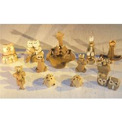 Whimsical Animal Mud Figurines