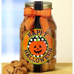 Happy Halloween Chocolate Chip Cookie Jar