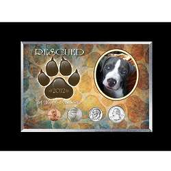 Rescued Dog Paw Year To Remember 4 Coin Frame