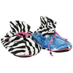 Zebra Print Spa Slippers with Thermal Gel Beads