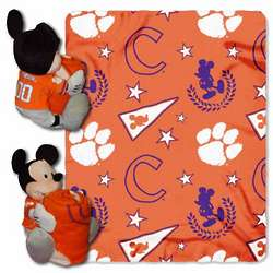 Clemson Tigers Mickey Mouse Pillow and Throw