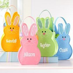 Personalized Felt Bunny Basket