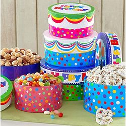 Happy Birthday Cake Snack Stack