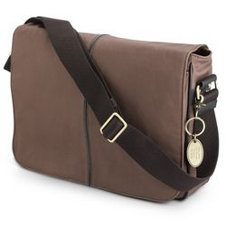 Brown Canvas Messenger Bag
