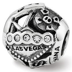 Sterling Silver Reflections Swarovski Las Vegas Collage Bead