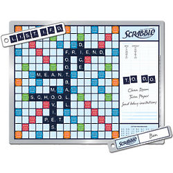 Magnetic Scrabble Game and Message Board