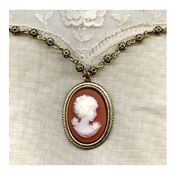Victorian Lady Filagree Necklace
