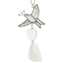 Personalized Peace Dove Ornament Sun Catcher
