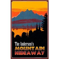 Personalized Mountain Hideaway Sign