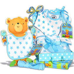 Baby Boy's Clothing Essentials Gift Basket