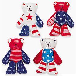 Vinyl Patriotic Bears
