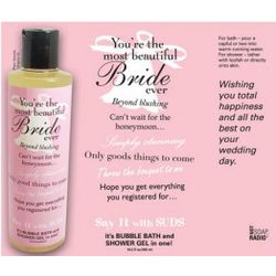 Say It with Suds Bridal Message Shower Gel