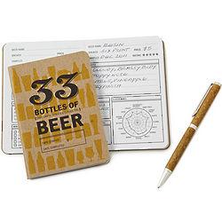 Beer Tasting Notebook and Pen Set