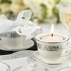 Porcelain Miniature Teacup Tealight Holders