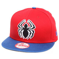 Spiderman Hero Bit Red Snapback Hat